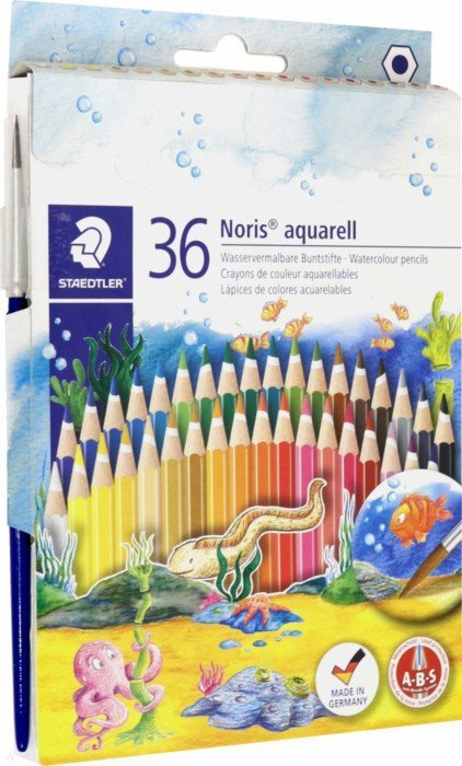 Иллюстрация 1 из 25 для Карандаши акварельные Noris Club (36 цвета, кисть)   Лабиринт - канцтовы. Источник: Лабиринт