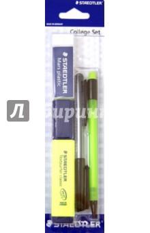 Текстовыделитель Сlassic, желтый (ластик, механический карандаш, ручка, линейка) (364)