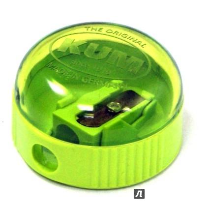 Точилка пластмассовая РИККИ-ТИККИ,прорезинен. боковое рифление прозр.корпус п/п с е/подвесом FSH35