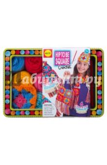 Набор для вязания крючком Модные вещи из вязаных квадратов (83T)Шитье, вязание<br>Модные вещи из вязаных квадратов<br>В наборе есть всё необходимое, чтобы связать крючком разноцветные квадраты и превратить их в шапочку, сумочку или стильный шарф. Элементы набора упакованы в красочную подарочную коробочку.<br>Состав набора для вязания:<br>- вязальный крючок<br>- разноцветная пряжа (6 цветов)<br>- связанный квадрат (1 шт. в качестве примера)<br>- пластиковые иглы<br>- жестяная коробочка для элементов набора<br>Производство: Китай<br>