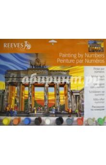 """Набор для раскрашивания по номерам акриловыми красками большой """"Бранденбургские ворота"""" (PL/94)"""