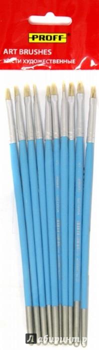 Иллюстрация 1 из 3 для Кисть щетина №5 плоская 10 штук в упаковке (BBP-05F) | Лабиринт - канцтовы. Источник: Лабиринт