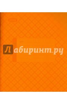Тетрадь 12 листов, клетка, пластиковая обложка, оранжевая (120102)