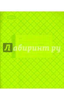 Тетрадь 18 листов, клетка, пластиковая обложка, салатовая (120004)