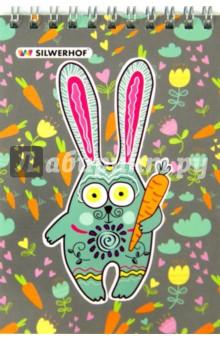 """Блокнот на гребне """"Сова и кролик"""" (40 листов, А6, клетка) (731152-26)"""