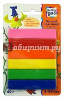 Мягкий пластилин. 70 грамм. 6 цветов (46639)