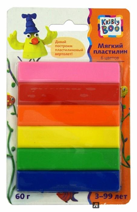 Иллюстрация 1 из 3 для Мягкий пластилин. 70 грамм. 6 цветов (46639) | Лабиринт - игрушки. Источник: Лабиринт