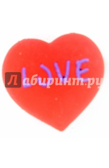 Ластик из каучука EMOTIONS красное сердце (182021)