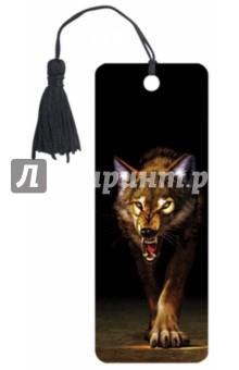 """3D закладка для книг с линейкой """"Волк"""" (125756)"""