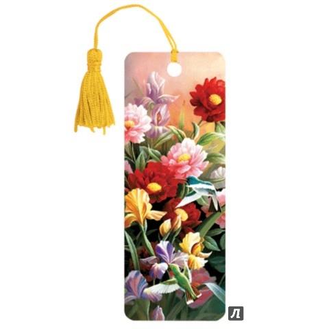 """Иллюстрация 1 из 8 для 3D закладка для книг с линейкой """"Цветы"""" (125777)   Лабиринт - канцтовы. Источник: Лабиринт"""