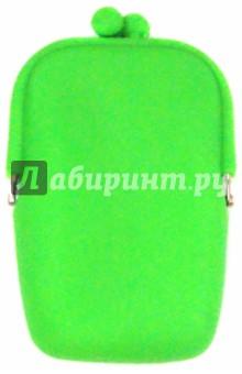 Кошелек Neon. Зеленый (51535)Детские сувениры<br>Кошелек зеленый.<br>Изделие кожгалантерейное, детское.<br>Изготовлено из полимерных материалов (силикона), с элементами металла.<br>Сделано в Китае.<br>