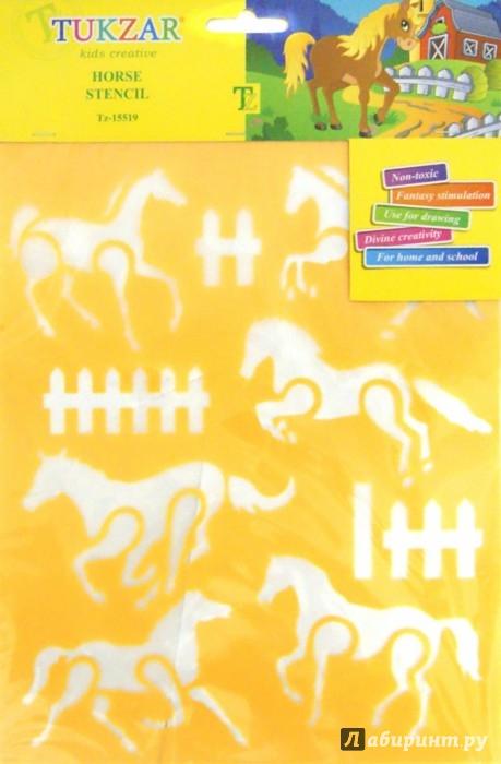 Иллюстрация 1 из 4 для Трафарет пластиковый Лошади (TZ 15519) | Лабиринт - игрушки. Источник: Лабиринт