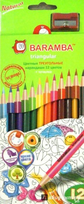 Иллюстрация 1 из 11 для Карандаши 12 цветов, треугольные (B33112/T) | Лабиринт - канцтовы. Источник: Лабиринт