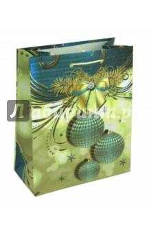 Пакет новогодний ламинированный (180х227х100 мм) (MP 2033)