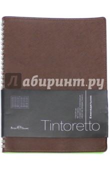 Еженедельник недатированный Tintoretto (В5, коричневый) (3-513/05)Ежедневники недатированные и полудатированные А5<br>Ежедневник недатированный.<br>Формат: В5 (175х225 мм)<br>Количество страниц: 160<br>Внутренний блок: офсет <br>Тип линовки: линия<br>Крепление: спираль<br>Содержит информационный блок.<br>Сделано в Китае.<br>