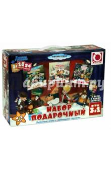 Настольная игра Подарочный набор 3 в 1. Лото Чебурашка, Домино Карлосон, Мемо Попугай Кеша (11700)