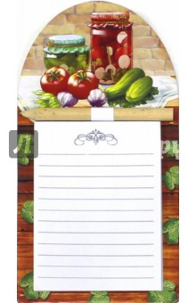 Блок для записей с карандашом (40 листов, на магнитном креплении, в ассортименте) (36118-50)