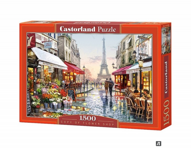 """Иллюстрация 1 из 20 для Puzzle-1500 """"Цветочный магазин"""" (C-151288)   Лабиринт - игрушки. Источник: Лабиринт"""