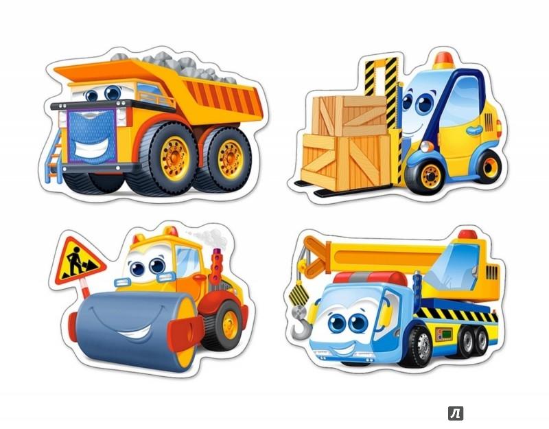 """Иллюстрация 1 из 14 для Puzzle-3х4х6х9 """"Забавные машинки"""" (В-005024)   Лабиринт - игрушки. Источник: Лабиринт"""