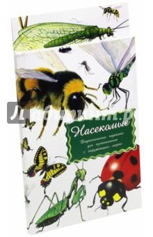 Дидактические карточки НасекомыеЗнакомство с миром вокруг нас<br>Расскажите детям о клопе, божьей коровке, осе, комаре, стрекозе, таракане, мухе, блохе, муравье, сверчке, кузнечике, пчеле, бабочке, златоглазке, богомоле, шмеле.<br>В комплекте 16 карточек.<br>Разглядывая карточки, играя с ними, ваш ребенок не только обогатит свой багаж знаний об окружающем мире, но и научится составлять предложения, беседовать по картинкам, классифицировать и систематизировать предметы.<br>Кроме того, с подобными карточками можно придумать множество интереснейших игр!<br>Именно такие карточки можно рекомендовать родителям для познавательных игр с детьми и занятий по методике Глена Домана.<br>Размер карточек 25х15 см.<br>