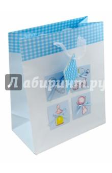 """Пакет подарочный бумажный """"Baby - мальчик"""" (04B-0002/3, 05B-0023)"""