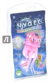 Радужная медуза Роза (157028)Игрушки для ванной<br>Яркие, веселые Радужные медузы светятся, изменяя цвета. Прекрасно плавают, погружаясь на дно и поднимаясь к поверхности (за счёт моторчика, встроенного в туловище).<br>Размер игрушки: 12 см.<br>Игрушка предназначена детям от 3-х лет.<br>Материал: пластмасса, силикон, металл.<br>Работает от двух щелочных или аккумуляторных батареек типа ААА(LR6) (в комплект не входят).<br>Сделано в Китае.<br>