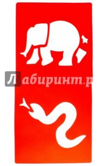 """Набор трафаретов """"Джунгли"""" (6 штук) (2470637)"""