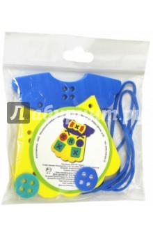 Шнуровка Платье, пористая резина (45324)Шнуровки из пластика и пластмассы<br>Игрушка направлена на развитие у ребёнка памяти, воображения, фантазии, моторики, пространственного и логического мышления.<br>Обучение происходит в процессе игры.<br>Благодаря особой структуре материала и свойству прилипать к мокрой поверхности, является идеальной игрушкой для ванны. <br>Материал: пенополиэтилен.<br>Для детей от 3-х лет. Содержит мелкие детали.<br>Сделано в России.<br>