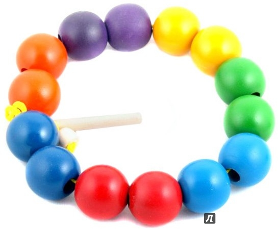 Иллюстрация 1 из 4 для Бусы: Радуга, шары цветные, 14 штук (Д-537)   Лабиринт - игрушки. Источник: Лабиринт