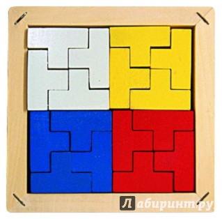 Иллюстрация 1 из 3 для Мозаика-конструктор, 4 цвета (Д-434) | Лабиринт - игрушки. Источник: Лабиринт