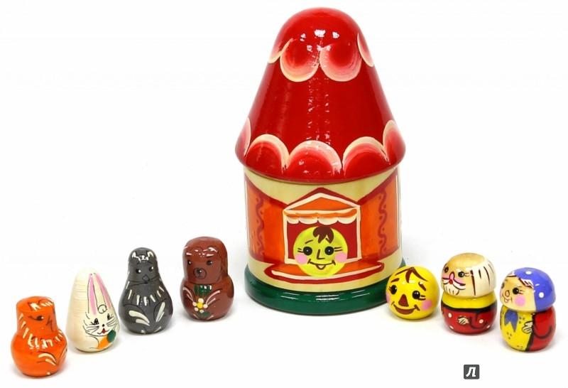 Иллюстрация 1 из 5 для Колобок. Пальчиковый театр в домике (Д-397) | Лабиринт - игрушки. Источник: Лабиринт