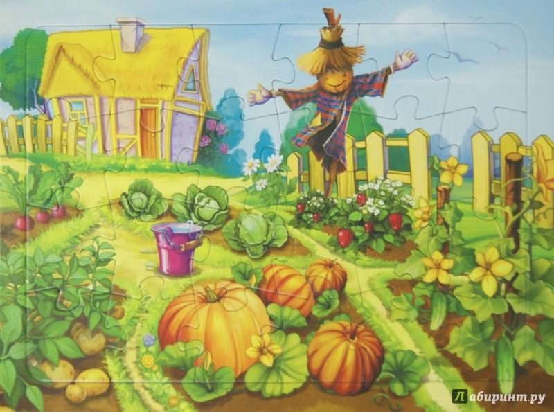 Иллюстрация 1 из 3 для Пазл. В огороде. 24 детали | Лабиринт - игрушки. Источник: Лабиринт