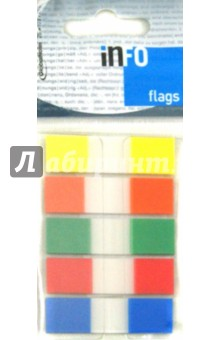 Клейкие Z заклейки пластиковые. 5 цветов. 12,5х43 мм. 26 л (7727-68) Info Notes