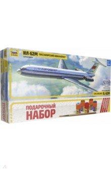 Пассажирский авиалайнер Ил-62М (7013П)Пластиковые модели: Авиатехника (1:144)<br>Первый советский реактивный межконтинентальный пассажирский лайнер Ил-62 был принят в эксплуатацию с 1967 года. Ил-62 создавался по требованию Аэрофлота, предполагавшим возможность совершения беспосадочного перелета на большие расстояния. Поэтому, например, у модификации Ил-62М максимальная дальность полета превышала 11 тыс. километров. На самолете Ил-62 было установлено несколько мировых рекордов по скорости и дальности полета, а в 1975 году на нем был выполнен перелет из Москвы в Сиэтл (США) через Северный полюс. Нескольких десятилетий Ил-62 служил в качестве правительственного самолеты (борт № 1) и был флагманом воздушного флота СССР.<br>Развивает интеллектуальные и инструментальные способности, воображение и конструктивное мышление.<br>Прививает практические навыки работы со схемами и чертежами<br>Соответствует требованиям безопасности.<br>Масштаб: 1:144<br>Кол-во деталей: 139<br>Длина: 36,9 см.<br>Материал: пластик<br>Упаковка: картонная коробка<br>В набор входит: набор деталей для сборки модели, клей, кисточка, краски.<br>Моделистам до 10 лет рекомендуется помощь взрослых.<br>Не рекомендуется детям до 3-х лет. Содержит мелкие детали.<br>Сделано в России.<br>