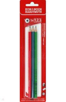 """Набор чернографитных карандашей """"ALPHA H-B"""" (3 штуки) (1703123014BL)"""