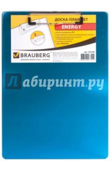 Доска-планшет с верхним прижимом А4, синяя (232230)Папки с зажимами, планшеты<br>Доска-планшет.<br>Для листов формата А4.<br>Материал - жесткий полупрозрачный пластик.<br>Толщина пластика - 2 мм.<br>Надежный металлический прижим с выдвижным подвесом.<br>Две линейки со шкалами в см и дюймах.<br>Сделано в Китае.<br>