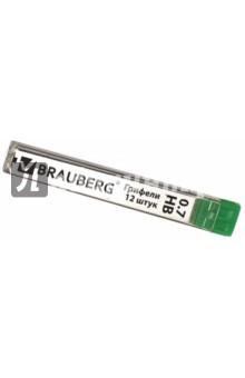 "Грифель запасной ""Hi-Polymer"" (HB, 0,7 мм, 12 штук) (180446) Brauberg"