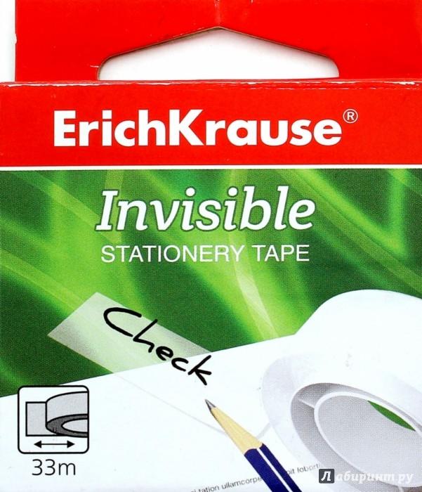 """Иллюстрация 1 из 4 для Лента клейкая прозрачная """"Invisible"""" (12 мм х 33 м) (19442)   Лабиринт - канцтовы. Источник: Лабиринт"""