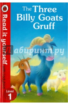 Three Billy Goats GruffАнглийский для детей<br>Based on the classic fairy tale. The three billy goats Gruff wants to cross the bridge to reach the grass on the other side, but first they have to get past the hungry troll!<br>Read it yourself with Ladybird is one of Ladybirds best-selling series. For over thirty-five years it has helped young children who are learning to read develop and improve their reading skills.<br>Each Read it yourself book is very carefully written to include many key, high-frequency words that are vital for learning to read, as well as a limited number of story words that are introduced and practised throughout. Simple sentences and frequently repeated words help to build the confidence of beginner readers and the four different levels of books support children all the way from very first reading practice through to independent, fluent reading.<br>Each book has been carefully checked by educational consultants and can be read independently at home or used in a guided reading session at school.<br>Further content includes comprehension puzzles, helpful notes for parents, carers and teachers, and book band information for use in schools.<br>The Three Billy Goats Gruff is a Level 1 Read it yourself title, suitable for very early readers who have had some initial reading instruction and are ready to take their first steps in reading real stories. Each story is told very simply, using a small number of frequently repeated words.<br>