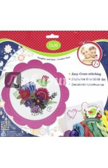 Набор для вышивания крестиком Цветы и птицы (57899)Вышивка<br>Набор для вышивания крестиком Цветы и птицы.<br>Для развития детского творчества.<br>В наборе: фетровая рамка, канва для вышивания, мулине, иголка.<br>Изготовлено из текстильных материалов (в т. ч. фетра), с элементами из металла.<br>Рекомендуется детям старше 7-ми лет.<br>Запрещено детям до 3-х лет. Содержит мелкие и острые детали.<br>Сделано в Китае.<br>