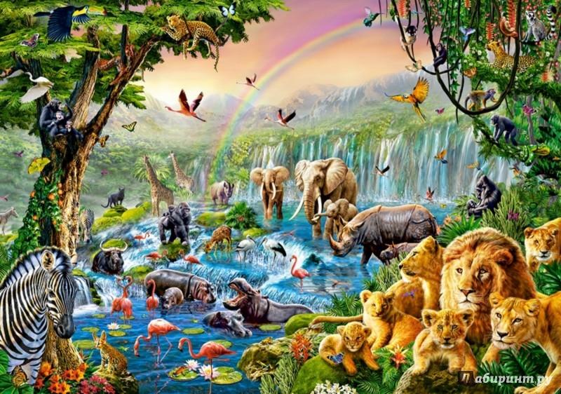 """Иллюстрация 1 из 3 для Puzzle-500 """"Река в джунглях"""" (B-52141)   Лабиринт - игрушки. Источник: Лабиринт"""