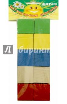 Кубики цветные, 10 штук (Д-634)Кубики логические<br>Кубики развивают воображение, знакомят ребенка с цветом, помогают осваивать навыки конструирования.<br>В наборе 10 цветных кубиков.<br>Материал: дерево.<br>Упаковка: пакет с подвесом.<br>Сделано в России.<br>