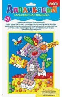 """Разноцветная мозаика """"Мышонок с сыром"""" (2789)"""