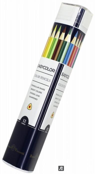 """Иллюстрация 1 из 3 для Карандаши цветные """"Easycolor"""" (12 цветов, трехгранные) (30-0030)   Лабиринт - канцтовы. Источник: Лабиринт"""