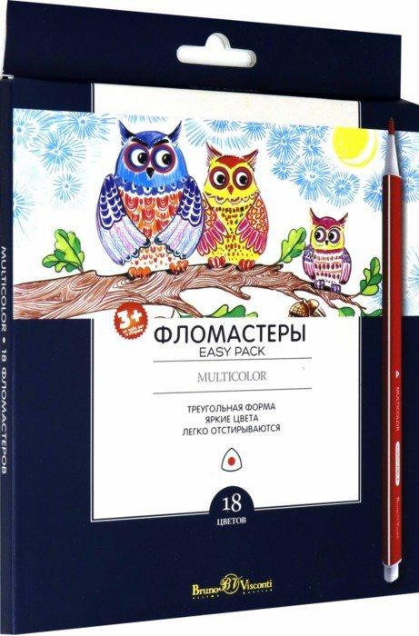 """Иллюстрация 1 из 7 для Фломастеры """"Multicolor Easy Pack"""" (18 цветов, трехгранные) (32-0020)   Лабиринт - канцтовы. Источник: Лабиринт"""