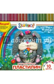 Пластилин восковой мягкий, 10 цветов ЮБИЛЕЙНАЯ КОЛЛЕКЦИЯ (956140-10)
