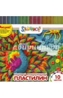 Пластилин восковой флуоресцентный Юбилейная коллекция (10 цветов) (956141-10)