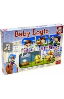 Игра-пазл Логика (15860)Обучающие игры-пазлы<br>Найди связь между картинками,выстроив логическую цепочку: яйцо - цыпленок - курица.<br>Коллекция Baby Educa стимулирует внимательность, развивает психомотрику, любопытство и воображение.<br>Состав: 6 пазлов из 3 элементов.<br>Материал: картон.<br>Упаковка: картонная коробка.<br>Для детей от 2 лет.<br>Сделано в Испании.<br>