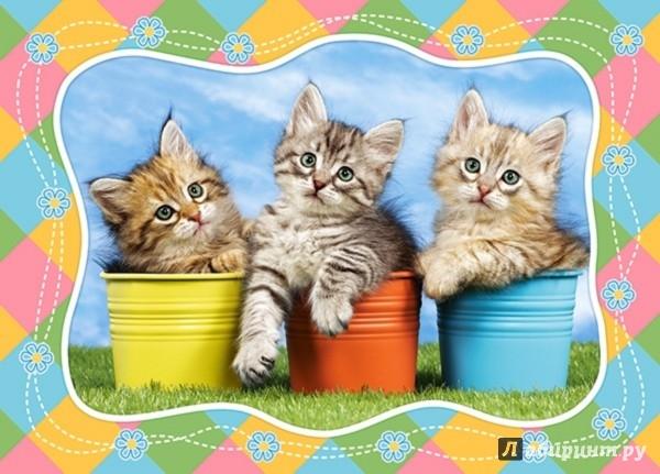 """Иллюстрация 1 из 3 для Puzzle-60 MIDI """"Три котенка"""" (В-06762)   Лабиринт - игрушки. Источник: Лабиринт"""