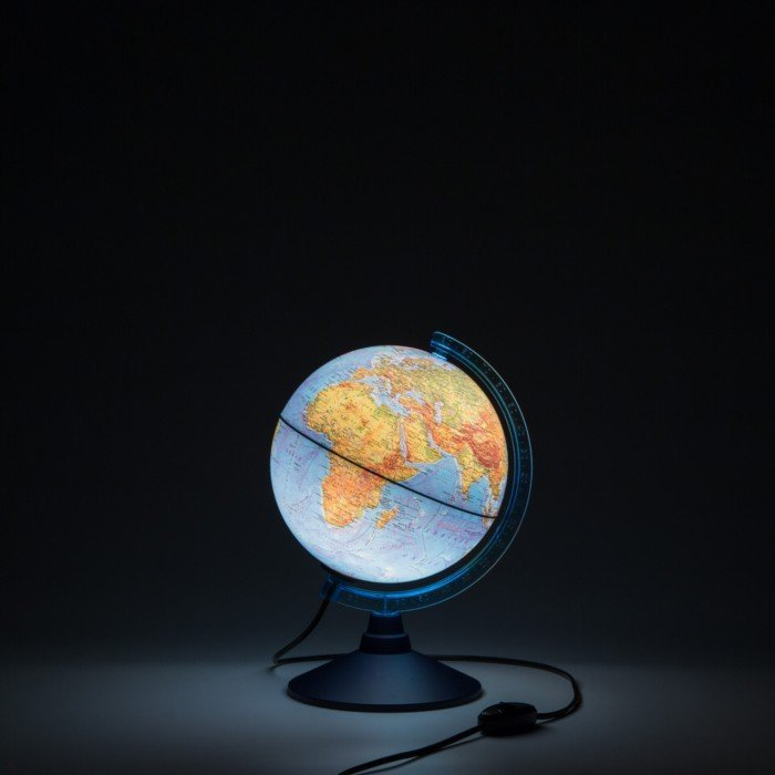 Иллюстрация 1 из 4 для Глобус Земли физический с подсветкой (d=210 мм) (Ке012100179) | Лабиринт - канцтовы. Источник: Лабиринт